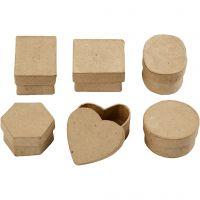 Mini cajas, A: 3 cm, dia: 4-6 cm, 6 ud/ 1 paquete
