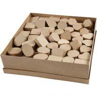 Mini cajas, A: 3 cm, dia: 4-6 cm, 144 ud/ 1 paquete