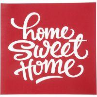 Plantilla adhesiva, home sweet home, 20x22 cm, 1 hoja