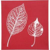Plantilla adhesiva, hojas, 20x22 cm, 1 hoja