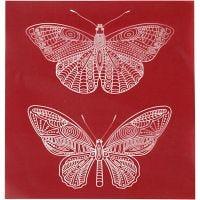 Plantilla adhesiva, Mariposa, 20x22 cm, 1 hoja