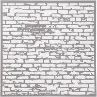 Plantilla, pared de ladrillos, medidas 30,5x30,5 cm, grosor 0,31 mm, 1 hoja