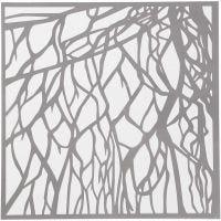 Plantilla, raíz, medidas 30,5x30,5 cm, grosor 0,31 mm, 1 hoja