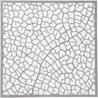 Plantilla, hoja, medidas 30,5x30,5 cm, grosor 0,31 mm, 1 hoja