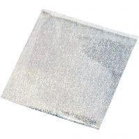 Art & Craft Foil, 10x10 cm, plata, 30 hoja/ 1 paquete