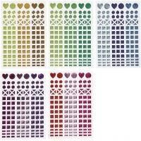 Pegatinas mosaico, dia: 8-14 mm, 11x16,5 cm, surtido de colores, 10 hoja/ 1 paquete