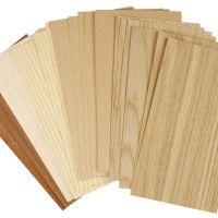 Madera fina de bambú, 12x22 cm, grosor 0,75 mm, 30 hojas stdas/ 1 paquete