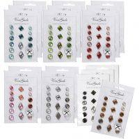 Remaches decorativos, medidas 8-18 mm, El contenido puede variar , surtido de colores, 20x16 ud/ 1 paquete