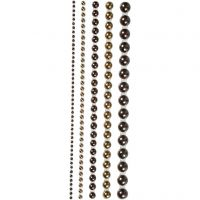 Medias perlas, medidas 2-8 mm, marrón, 140 ud/ 1 paquete