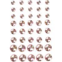 Joyas, medidas 6+8+10 mm, rosa, 40 ud/ 1 paquete