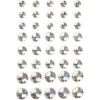 Joyas, medidas 6+8+10 mm, cristal, 40 ud/ 1 paquete