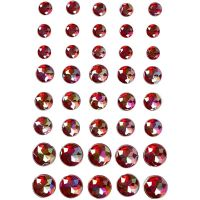 Joyas, medidas 6+8+10 mm, rojo, 40 ud/ 1 paquete