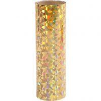 Deco foil , A: 15,5 cm, grosor 0,02 mm, dorado, 50 cm/ 1 rollo