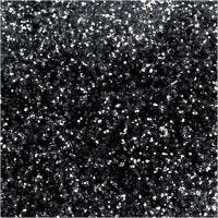 Purpurina biodegradable, dia: 0,4 mm, negro, 10 gr/ 1 bote