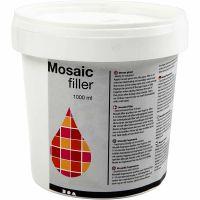 Rellenador de mosaico, blanco, 1000 ml/ 1 cubo