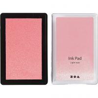Almohadilla de tinta, A: 2 cm, medidas 9x6 cm, rosa claro, 1 ud