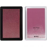 Almohadilla de tinta, A: 2 cm, medidas 9x6 cm, rosado oscuro, 1 ud