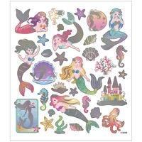 Pegatinas, Sirenas, 15x16,5 cm, 1 hoja
