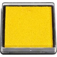 Almohadilla para tinta, medidas 40x40 mm, amarillo, 1 ud