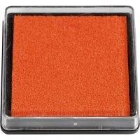 Almohadilla para tinta, medidas 40x40 mm, naranja, 1 ud