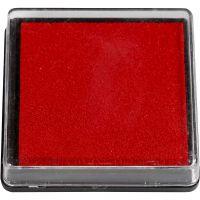 Almohadilla para tinta, medidas 40x40 mm, rojo, 1 ud
