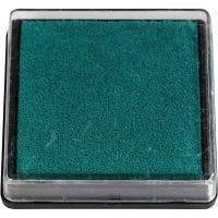 Almohadilla para tinta, medidas 40x40 mm, verde, 1 ud