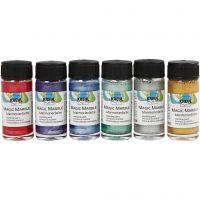 Marmoleado mágico, colores metálicos, 6x20 ml/ 1 paquete