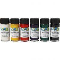 Marmoleado mágico, colores estándar, 6x20 ml/ 1 paquete