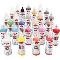 Viva decoración Color de ventana, surtido de colores, 25x90 ml/ 1 paquete