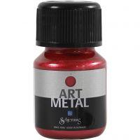 Pintura Art Metal, rojo lava, 30 ml/ 1 botella