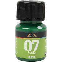 Pintura A-Color Glass, verde brillante, 30 ml/ 1 botella