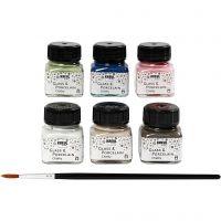 Pintura de vidrio y porcelana, surtido de colores, 6x20 ml/ 1 paquete