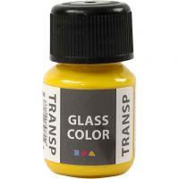 Pintura Glass Color Transparent, amarillo limón, 30 ml/ 1 botella