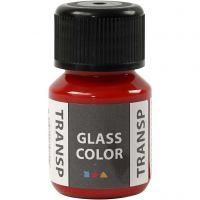 Pintura Glass Color Transparent, rojo, 30 ml/ 1 botella