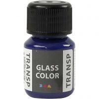 Pintura Glass Color Transparent, azul brillante, 30 ml/ 1 botella