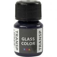 Pintura Glass Color Transparent, azul armada, 30 ml/ 1 botella
