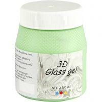 3D glass Gel, verde, 250 ml/ 1 bote