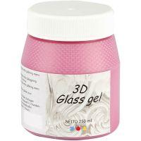 3D glass Gel, rosa, 250 ml/ 1 bote