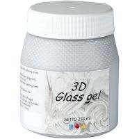 3D glass Gel, plata, 250 ml/ 1 bote