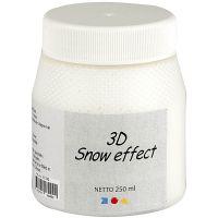 Pintura efecto nieve 3D, blanco, 250 ml/ 1 bote