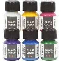 Glass Color Frost, surtido de colores, 6x30 ml/ 1 paquete