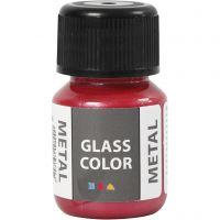 Glass Color Metal, rojo, 30 ml/ 1 botella