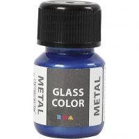 Glass Color Metal, azul, 30 ml/ 1 botella