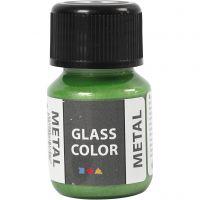 Glass Color Metal, verde, 30 ml/ 1 botella