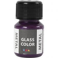 Glass Color Metal, morado, 30 ml/ 1 botella