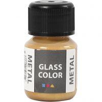 Glass Color Metal, dorado, 30 ml/ 1 botella