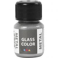 Glass Color Metal, plata, 30 ml/ 1 botella