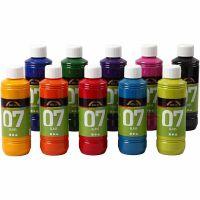 Pintura A-Color Glass, surtido de colores, 10x250 ml/ 1 caja