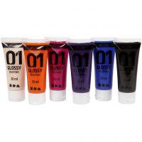 Pintura acrílica A-Color, glossy, colores adicionales, 6x20 ml/ 1 paquete