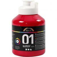 Pintura acrílica A-Color, glossy, rojo primario, 500 ml/ 1 botella